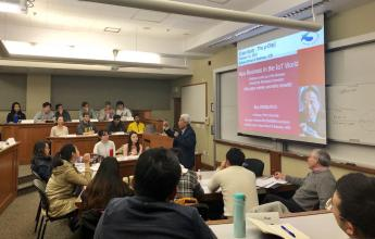 An image of students listening intently to the professor during one of the BHGAP classes.