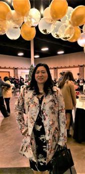EHS Supervisor Carmel Gacho at a party