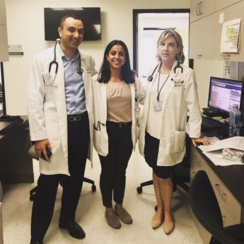 Nurse practitioner Armen, Ilse Tejeda and nurse practitioner Wendy at San Fernando Community Health Center