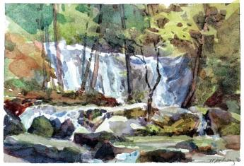 Nature watercolor by Inspired Instructor Jennifer Mahoney