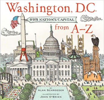 Cover of Alan Schroeder's upcoming Washington, D.C., book