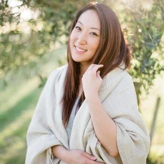 Sophia Fox in a gray robe