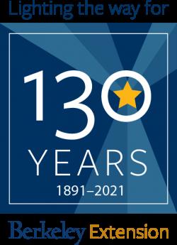 UC Berkeley Extension 130th Anniversary logo by Jennifer Warren