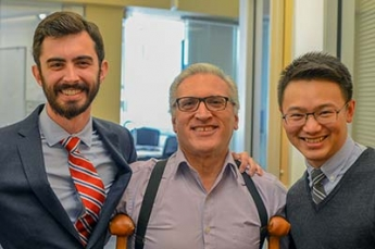 From left: Co-CLS graduates Victor Gavallos and PingWah Poon and instructor Joseph Musallam