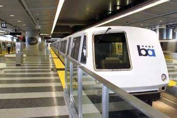 Image of BART train at a station