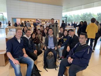 Visit to Apple group shot