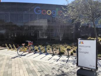 A picture of the Google headquarters in Silicon Valley.