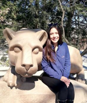 Laura on campus at Penn State University