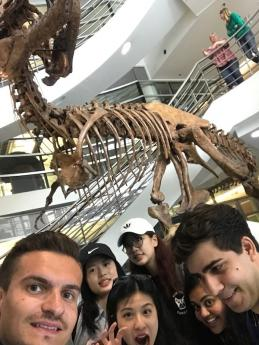 Lukas poses for a group selfie during the BHGAP scavenger hunt on campus