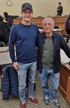 BHGAP student Markus poses with professor Barry Schwartz