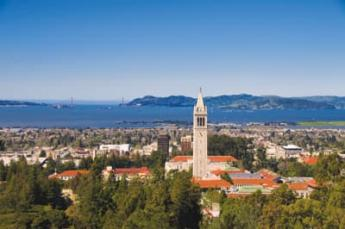 UC Berkeley campus and campanile clock tower