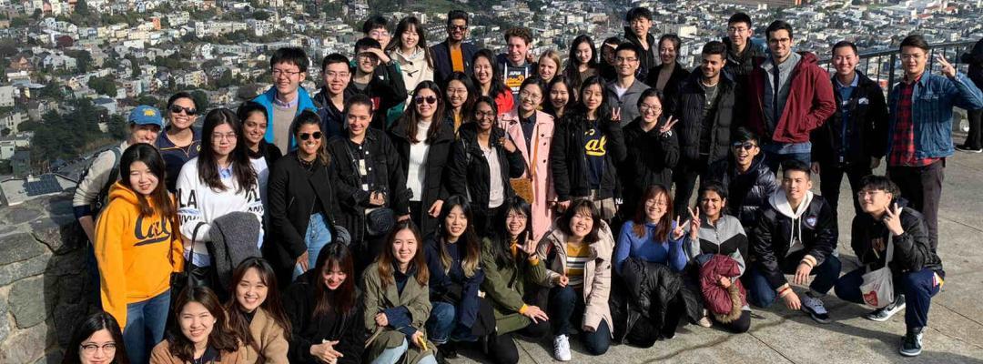 Group photo of BHGAPers at Twin Peaks in San Francisco
