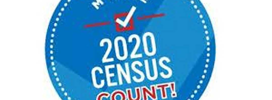 Photo of badge saying Make 2020 Census Count!