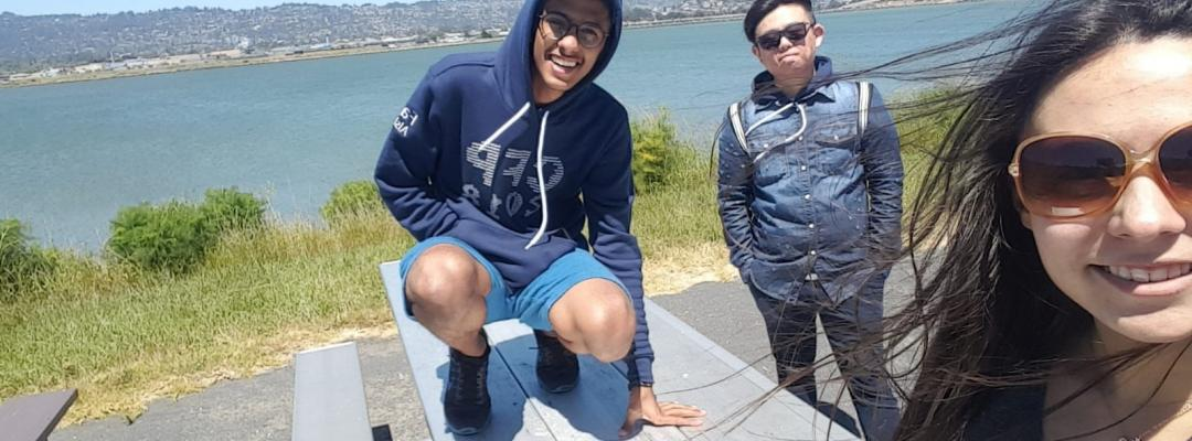 College Foundations Program students spending time near the San Francisco Bay