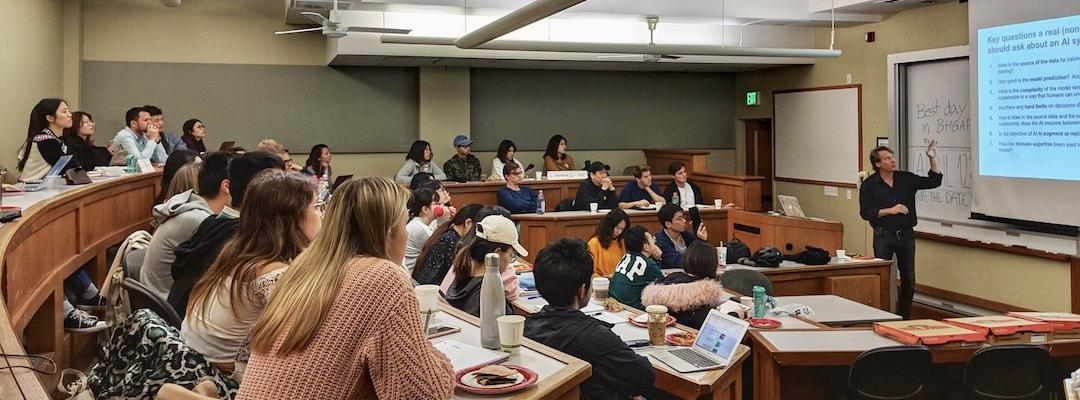 BHGAP students listen intently during a course lecture.