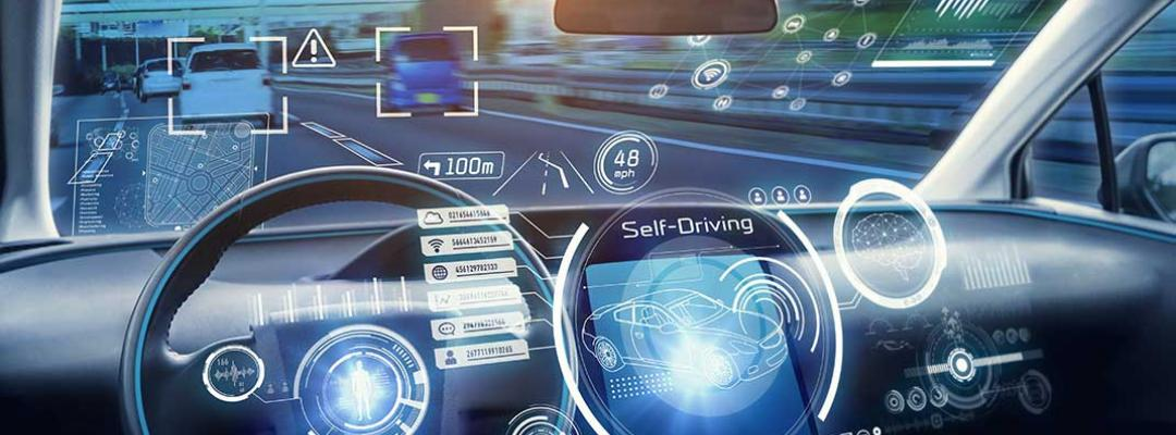 Inside look at dashboard of an autonomous car