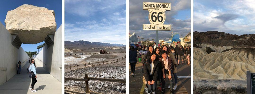 BHGAP student Karin Szu visits Los Angeles with other students on her spring break.