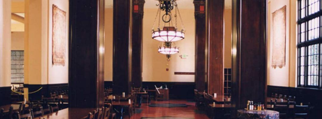 A look inside the dining commons of the International House, a frequent destination for Sixiong's lunchtime activities.
