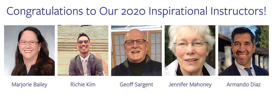 2020 Inspirational Instructors