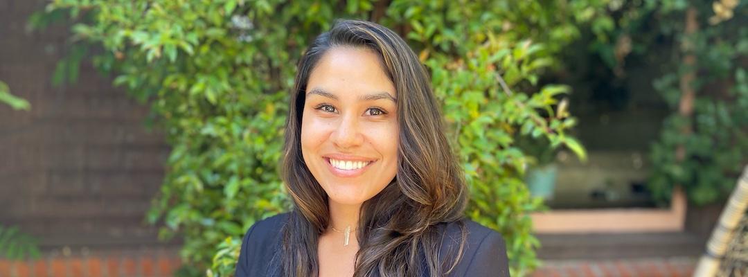 Post-Baccalaureate Health Professions student, Community Impact scholarship winner Jessica Raya
