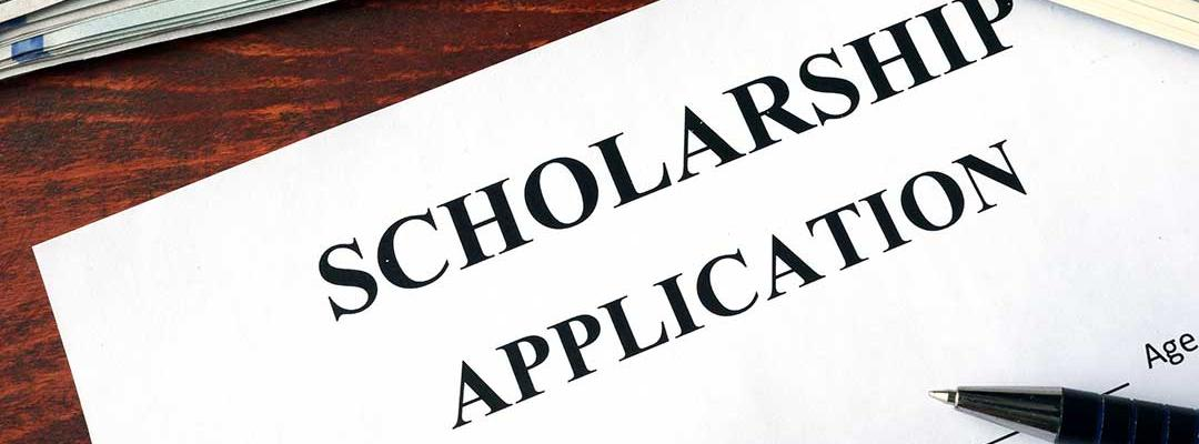 Photo of paper scholarship application