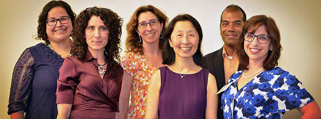 Aubrey Uresti, Marianna Lenoci, Andrea DuBrow, Diana Wu (Dean), Ramu Nagappan (Assistant Dean) and Helena Weiss-Duman.