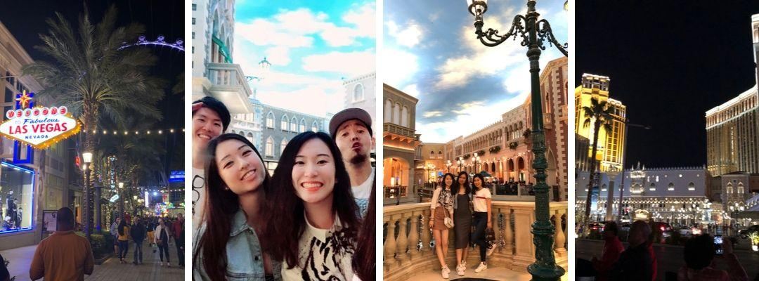 BHGAP student Karin Szu visits Las Vegas with other students on her spring break.