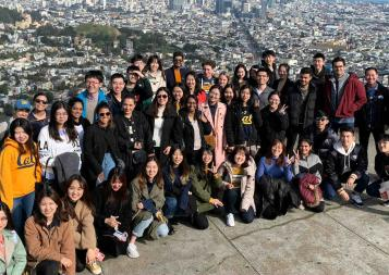 Group photo of BHGAPers at Twin Peaks in San Francisco