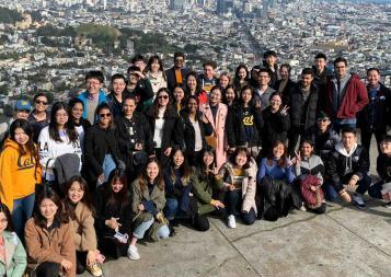 Group photo of BHGAPers on on Twin Peaks, San Francisco