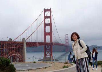 BHGAP student Iris Ye visits the Golden Gate Bridge in San Francisco