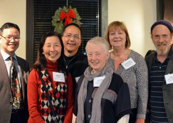 Dean Diana Wu with 2017 Honored Instructors at celebration