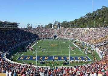 UC Berkeley football stadium is filled with fans