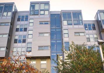 Photo of exterior of apartment complex