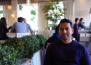 Khizar Sultan at the restaurant where the interview took place