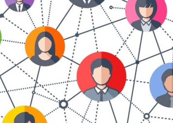 Stock illustration of network of people