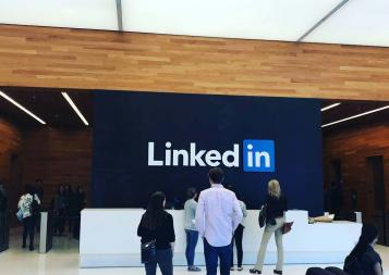 LinkedIn, among many other companies, was a visitation site for BHGAP students.