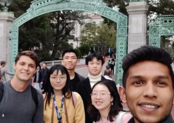 BHGAP students pose in front of UC Berkeley's iconic Sather Gate.