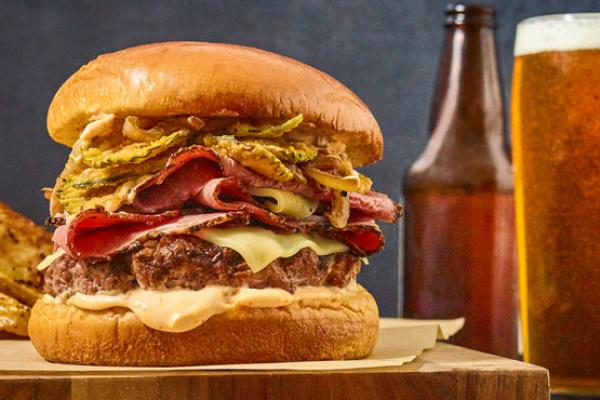 Judy Doherty photo of burger and beer