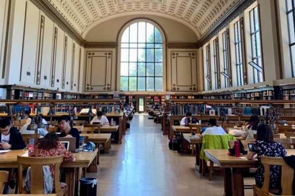 Photo of inside UC Berkeley library