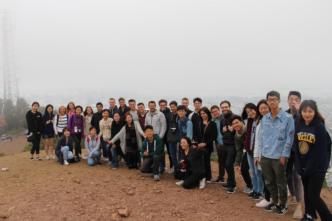 BHGAP students from around the world pose for a group shot in foggy San Francisco.