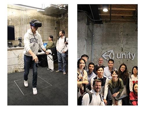 Students visiting Unity headquarters