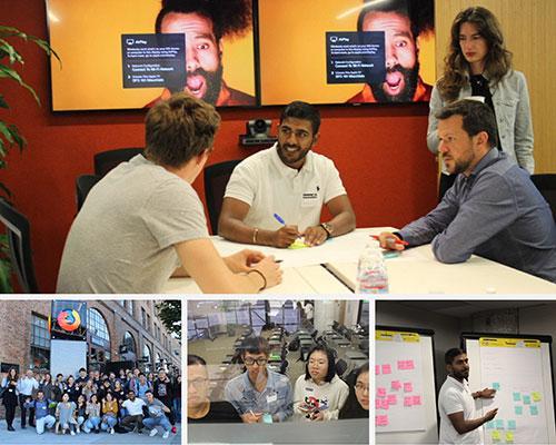 Students visiting Mozilla headquarters