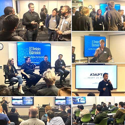 Photo collage from autonomous car event