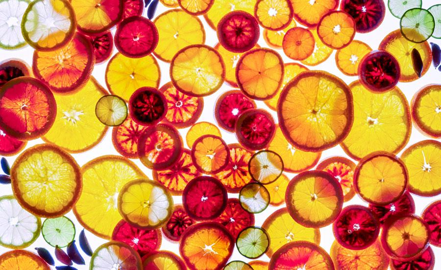 Judy Doherty photo of citrus on white background