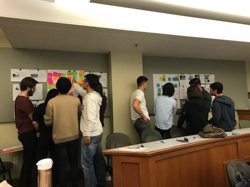 Students are hard at work in their BHGAP design thinking class.