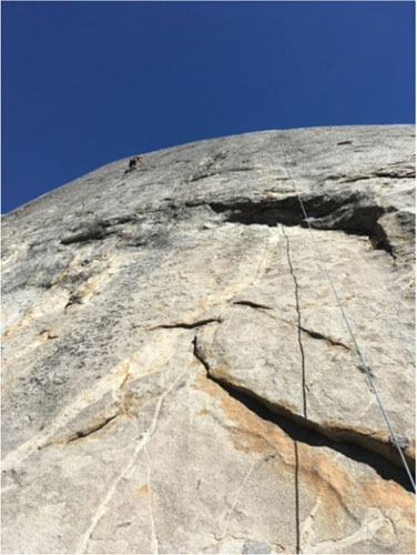 Photo of Edmond Matevosian rock climbing