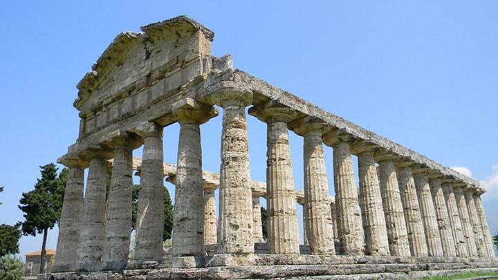 Greek Temple in Paestum, Italy