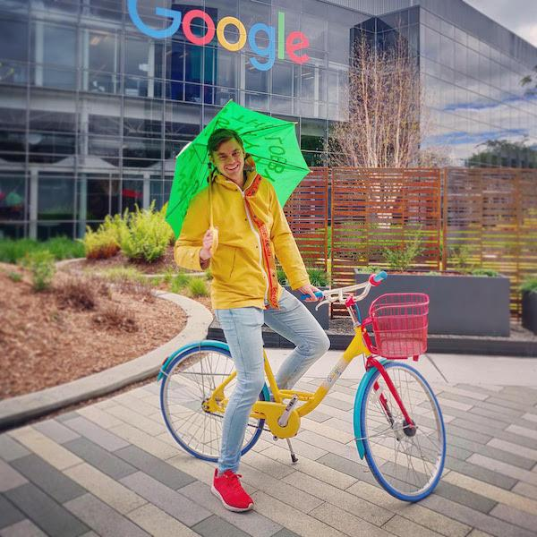 BHGAP student Hugo from the Netherlands visits the Google office in Silicon Valley