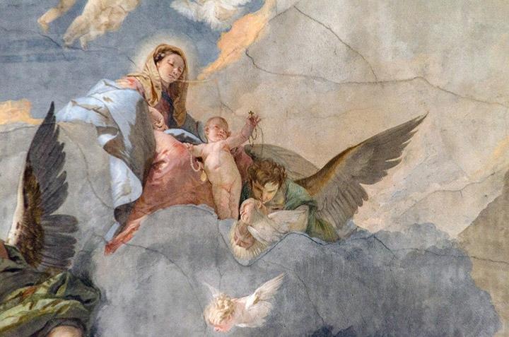 Tiepolo ceiling painting in Venice's Ca' Rezzonico